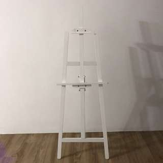 White Easel Stand
