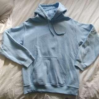 Baby Blue Gildan Hoodie size S