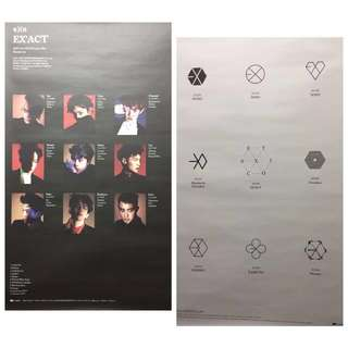 EXO EX'ACT Love me right EXODUS Overdose 海報 Poster
