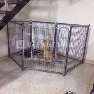 6 Panel Metal Pet Playpen Fence Cage Fence Dog Cat Rabbit
