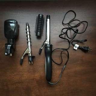 Conair hair tools set (curler, straightener, crimper)