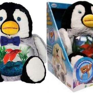 Buy 1 Take 1 Charming Penguin Cuddly Teddy Tank Fish Bowl