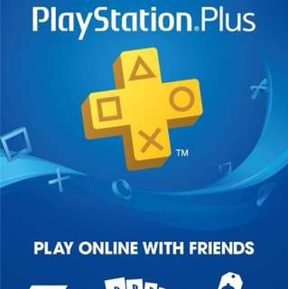 Brand New 1 Year Sony PlayStation Plus Membership - PS3 PS4 PS Vita
