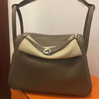 Hermes Brand New Lindy 30 Etoupe