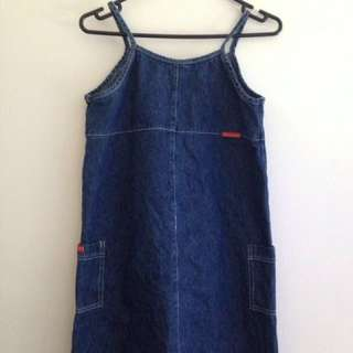 Vintage Denim Dress/Pinafore