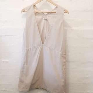 Mystic rose beige overall skirt