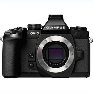 Olympus OMD-EM1 with lens