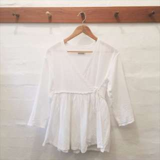 Beamsboy white wrap shirt, bought from zozotown japan.