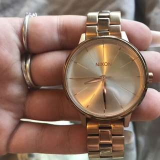 Nixon rose gold watch