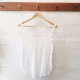 Free people high low thin singlet.