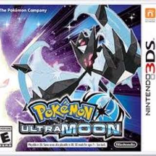 Pokemon Ultra Moon ( Still has exterior plastic on )