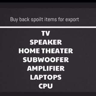 Water spoilt tv