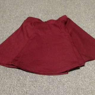 Skater skirt (maroon)