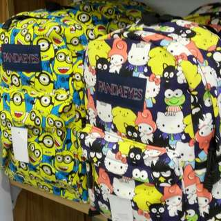 PandaEyes School Bag Backpack (Minions & Hello Kitty)