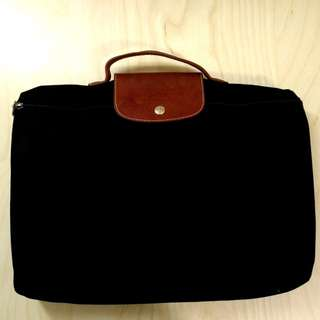 Longchamp le pliage document holder in black