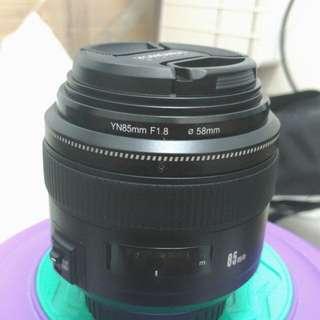 Yongnuo 85 1.8 lens (canon mount)