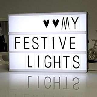 A4 LED LIGHT BOX + 96 Letters/Symbols