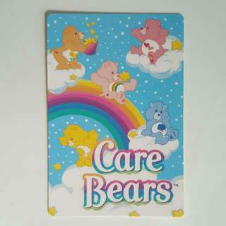 BLESS📬Brand New Authentic Care Bears Rainbow Postcard / Greeting Card