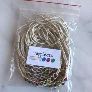 Set of 10 happiness friendship bands
