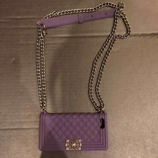 iPhone紫色鏈袋手機殼#好物免費送