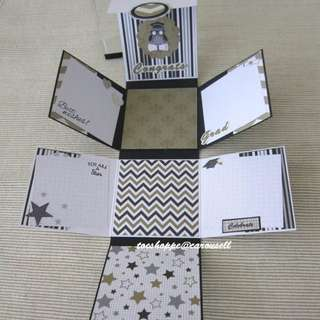 Graduation Wallet Scrapbook Card