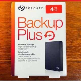 4TB Seagate Backup Plus Hard disk drive