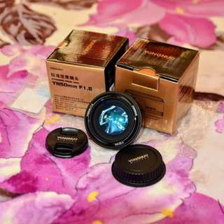 New.Yongnuo YN50mm 50 1.8 large aperture portrait nikon and canon mount