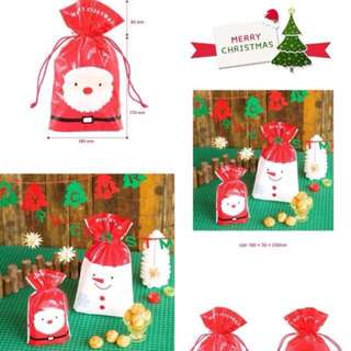 Christmas gift draw string wrapper present