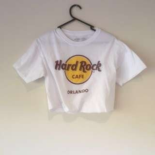 Authentic Vintage Cropped Hard Rock Cafe T-Shirt