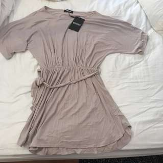 Missguided grey t-shit dress