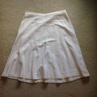 Forever New White Mid Length Skirt