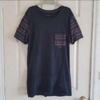 Navy Pocket Long fit Tshirt - Arvust