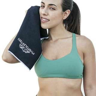 Black Microfiber Gym Towel Quick Drying