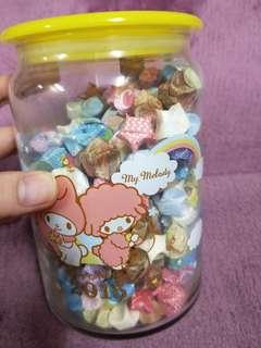 🚚 可愛玻璃罐含星星