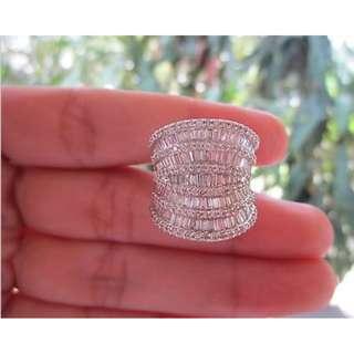 4.52 Carat Diamond White Gold Ring 18k