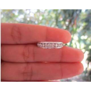 .49 Carat Diamond White Gold Half Eternity Ring 14k