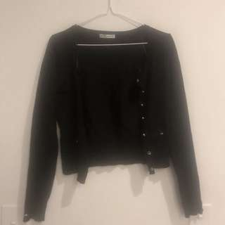🖤 TARGET 🖤 Cropped Cardis Size 8 X2 - Black/Red