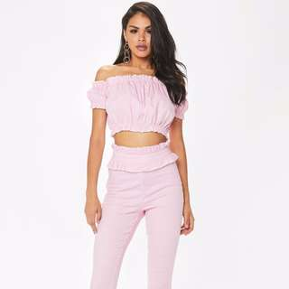 Pink Gingham Frill Pants