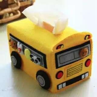 DIY Felt Schoolbus Tissue Holder