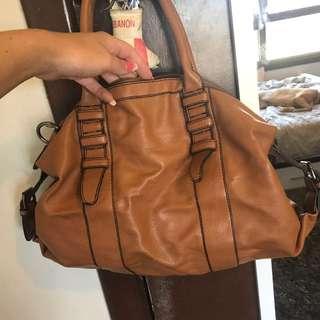 Brown medium sized handbag