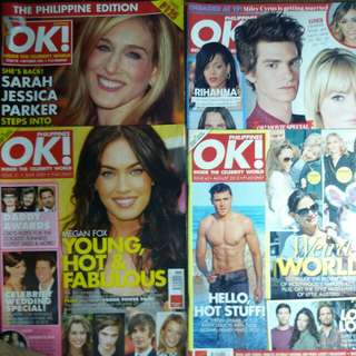 Bundle - OK! Philippines Magazine Back Issues (4 for Php100)