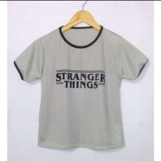 Stranger thing TEE - lightgrey -4her