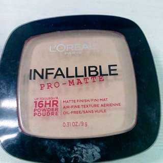 L'oreal Infallible Pro Matte Powder shade Nude Beige