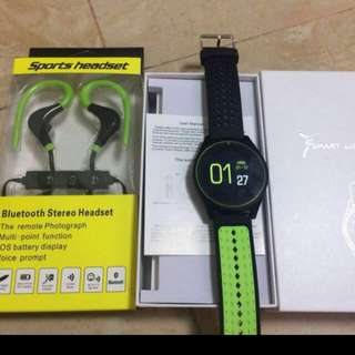 Sport watch phone (call function) with bluetooth and 32GB memory card