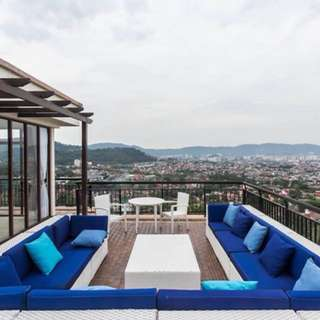 Hill top duplex penthouse