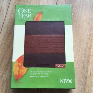 One Year Bible NIV Slimline edition - brand new sealed