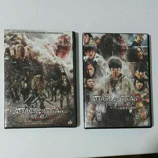 Original DVD Attack on Titan 1 & 2 (English Subtitle)