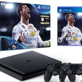 PS4 FIFA 18 bundle with 2 controllers