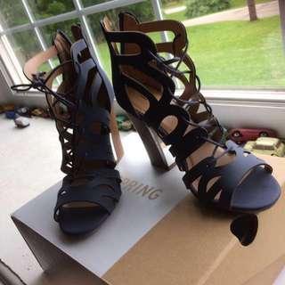 Spring, Navy Tavernelle Sandals