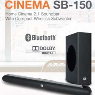 (BNIB) Unopened JBL SB150 Soundbar + Wireless Sub-woofer. With 1-year local official warranty.